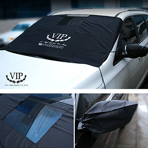 Car Windshield Snow Urethane Coating Cover & Sun Shade Protector Side Mirrors Cover for Car Rv (RV)
