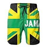NiiwxcS Men's Jamaican Kingdom Flag Summer Swim Trunks Drawstring Lightweight Surfing Board Pants