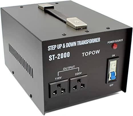 Step Up and Down 2000W Heavy Duty Voltage Transformer 110V to//from 220V US SHIP