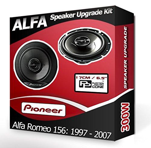 Pioneer - Altavoces para puerta delantera de coche, Alfa Romeo 156, 240 W