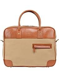 Banuce Vintage Canvas Leather Briefcase for Men Messenger Bag Business 14 Laptop Shoulder bag Organizer