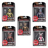 Funko Action Figures- Five Nights at Freddy's Nightmare Set of 5 Nightmare Freddy, Foxy, Bonnie, Chica, Funtime Foxy