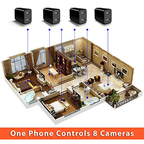 [Upgraded 2019] Spy Hidden Camera with Remote Viewing, USB Charger WiFi Nanny Camera 1080P HD H.264 with Motion Detection for Home Office Security Surveillance, No Audio by CIXI (Image #6)