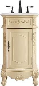 Elegant Decor 19 inch Single Bathroom Vanity in Light Antique Beige
