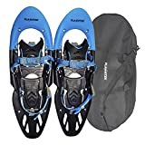 """Flashtek Snowshoes for men and women High End Plastic Hiking/ Terrain Snowshoes with Heel Lift + Free Carry Bag 25"""""""