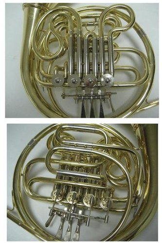 OPUS USA by Ktone Professional Gold Double French Horn Brand New
