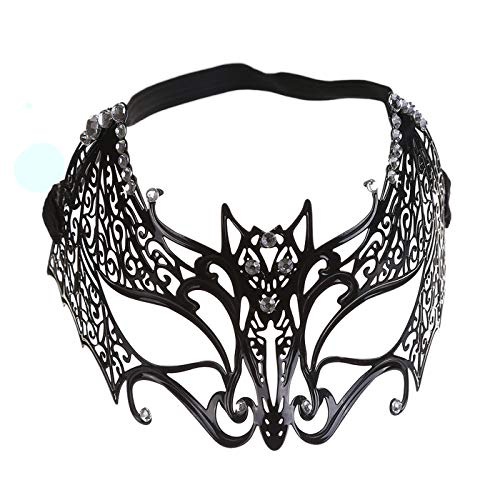Taopleker Masquerade Mask for Women, Halloween Makeup Party Metal Princess Mask (F)