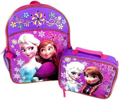 Frozen Backpack with Matching Lunchbox Set Featuring Anna and Elsa (Frozen Pocket Book)