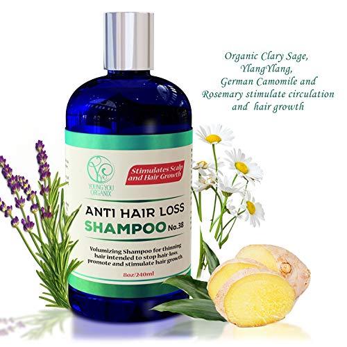Hair Loss Shampoo - Stimulates Scalp and Hair Growth. A natu