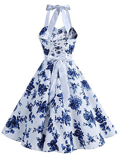 50's Cocktail Dressystar Rockabilly Prom China Retro Dot Vintage Dresses Bandage Polka 60's IwH0qw
