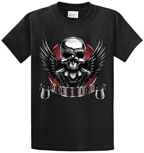 Ride Heavyweight T-shirt (RIDE TILL I DIE PRINTED TEE SHIRT - BLACK 7XL)