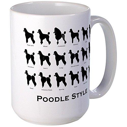 (CafePress - Poodle Styles: Black Large Mug - Coffee Mug, Large 15 oz. White Coffee Cup)
