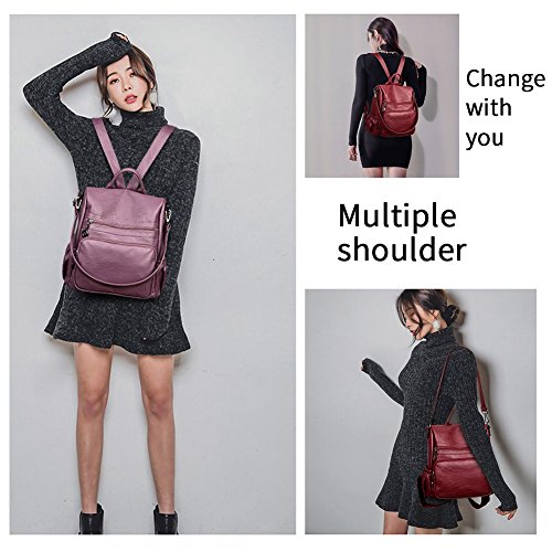 Bronze Rucksack Shoulder Bag Purse Travel theft Backpack Women Anti Handbag Bag Ladies P607OAq