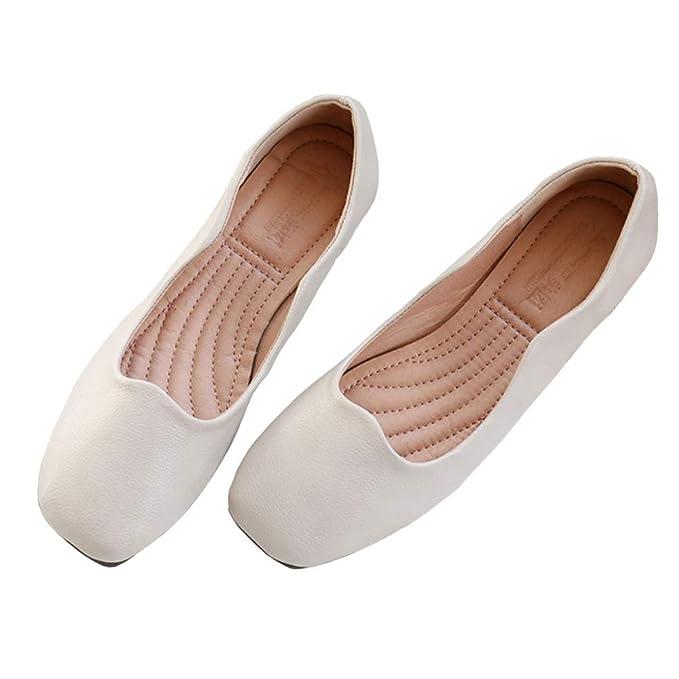 Zapatos De Trabajo Bombas Plegables Para Mujer Zapatos Enrollables Planos De Ballet Plegables Señoras Portátiles Mocasines: Amazon.es: Ropa y accesorios