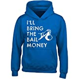 Gilded Penguin I'll Bring The Bail Money Holding A Bag Of Money - Adult Hoodie L Royal
