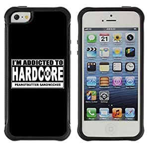 Hybrid Anti-Shock Defend Case for Apple iPhone 5 5S / Hardcore Sign