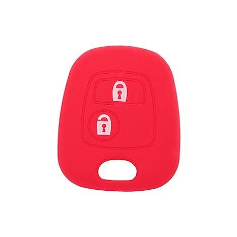 fassport carcasa de silicona Skin Chaqueta Fit Distancia de 2 botones para Peugeot y Citroën clave sin emblema cv9304