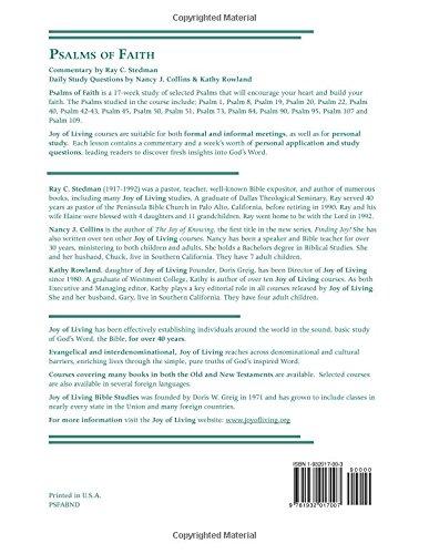 Psalms Of Faith (Joy Of Living Bible Studies): Ray C. Stedman ...
