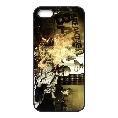 Breaking Bad 013 coque iPhone 5 5S cellulaire cas coque de téléphone cas téléphone cellulaire noir couvercle EOKXLLNCD22401
