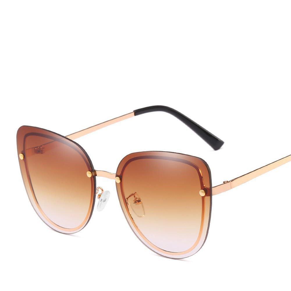 Aoligei Ne Cat eye s aucune trame marée Dame lunettes de soleil hommes visière lunettes de soleil ongles européens et américains lunette de soleil 9HksQ
