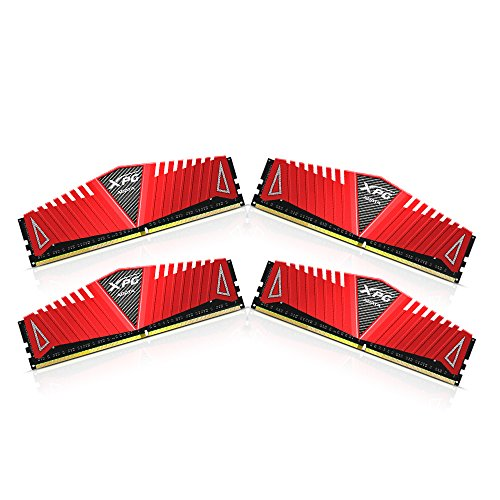 ADATA XPG Z1 DDR4 2133MHz (PC4 17000) 32GB (8GBx4) Memory Modules, Red (AX4U2133W8G15-QRZ)