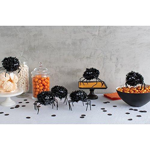Martha Stewart Crafts Spooky Night Spider Pom Pom Kit, 48-20414 (Martha Stewart Halloween Decor)