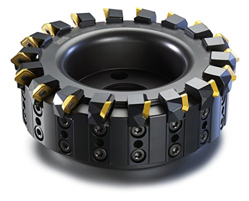 Sandvik Coromant R260.82-400-12H-FL Auto AF Adjustable Face Milling Cutter, Steel, Right Hand, Cap Mounting, 400mm Cutting Diameter x 63mm Overall Length, 12 Insert Size, 36 Extra Close Pitch