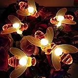 Honeybee Fairy String Lights,40 LED 14Ft Honeybee