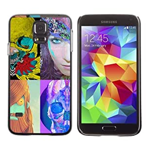 Licase Hard Protective Case Skin Cover for Samsung Galaxy S5 - Pop Art Photo