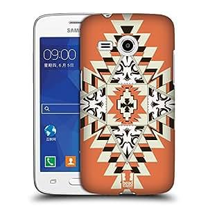 Head Case Designs Orange Navajo Skulls Protective Snap-on Hard Back Case Cover for Samsung Galaxy Core Mini G3568