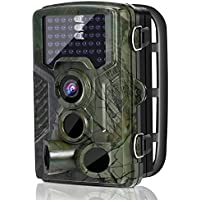 Hunting Trail Game Camera, LESHP 12MP Wildlife Motion Activated Camera Cam with 120°Infrared Night Version, 2.4'' LCD, 46pcs IR LEDs, IP56 Waterproof design for Animal/Event Observation Surveillance
