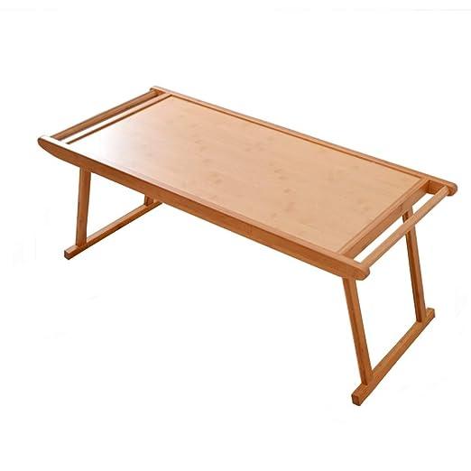 Mesa plegable de bambú XINGZHE, mesa plegable para ordenador o ...