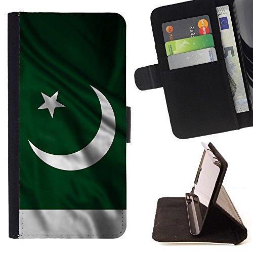 FJCases Pakistan Pakistani Waving Flag Slim Wallet Card Holder Flip Leather Case Cover for Samsung Galaxy J3 Emerge / Galaxy J3 Prime / Galaxy J3 Eclipse / Galaxy J3 - Pakistani Images Boys