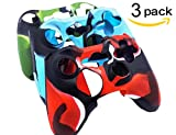 xbox 360 silicone controller skin - BRHE Cool Silicone Protector Cover Case Anti-Slip Soft Comfort for Xbox 360 Controller Skin Camo (3 Colors Package) (Three Pack)