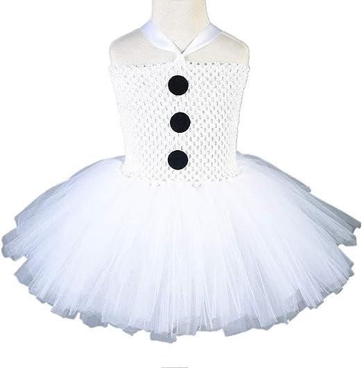 JJAIR Muñeco de Nieve de la Falda para Las niñas, en Capas de Tul ...