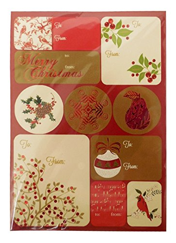 The Gift Wrap Company Self-Adhesive Holiday Label Sheets, Se