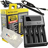 BUNDLE: Nitecore i4 V2014 NEW 2014 version Intellicharger Universal Smart Battery Charger for Li-ion / IMR / Ni-MH/ Ni-Cd w/ Car Adapter, and Lightjunction Battery Case