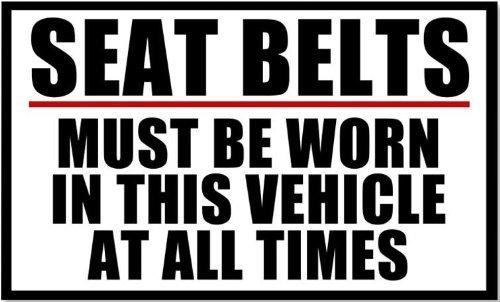 (Vinyl USA Seat Belts Must Be Worn Business Safety Sticker)