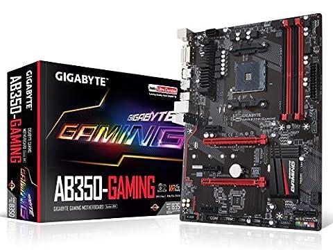 GIGABYTE GA-AB350-Gaming AMD RYZEN AM4 B350 SMART FAN 5 HDMI M.2 SATA USB 3.1 Type-A ATX DDR4 (Gigabyte Uefi)