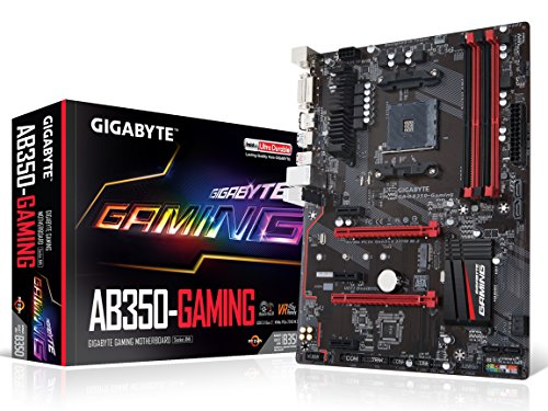GIGABYTE GA-AB350-Gaming AMD RYZEN AM4 B350 SMART FAN 5 HDMI M.2 SATA USB 3.1 Type-A ATX DDR4 Motherboard