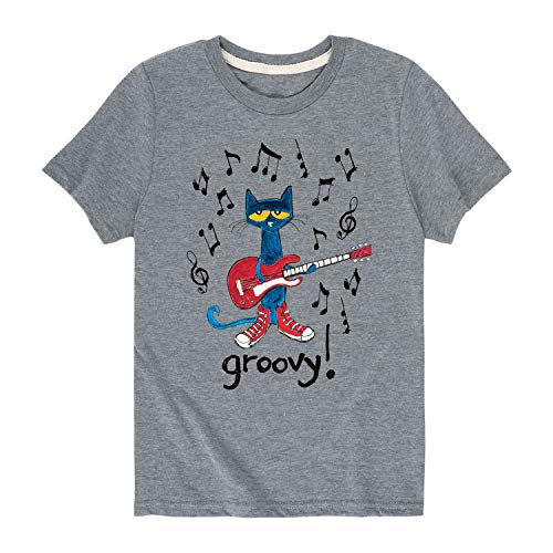 Pete the Cat Groovy - Toddler Short Sleeve Tee Athletic Heather ()
