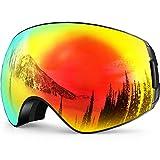 ZIONOR X7 Ski Snowboard Goggles with UV Protection Anti-fog OTG Spherical Lens Anti-slip Strap for Men Women