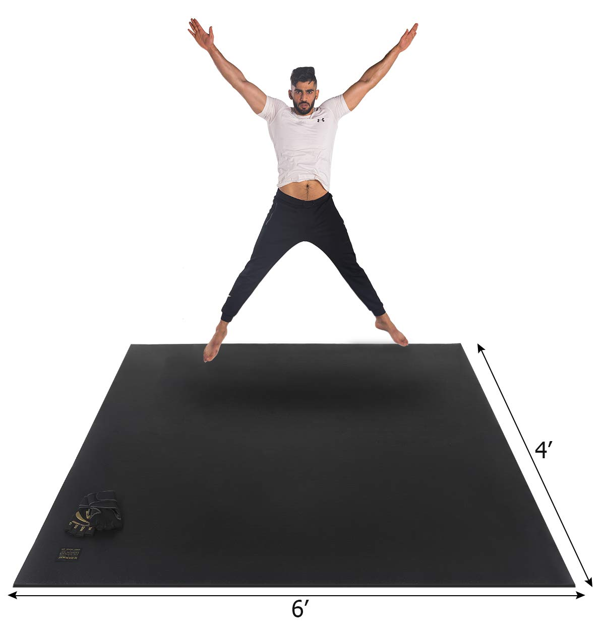 Gxmmat Large Exercise Mat 6'x 4'x 7mm Ultra Durable,Non-Slip,Thick Workout Mats for Home Gym Flooring- Plyo,MMA,Jump,Gymnastics,Cardio Mat