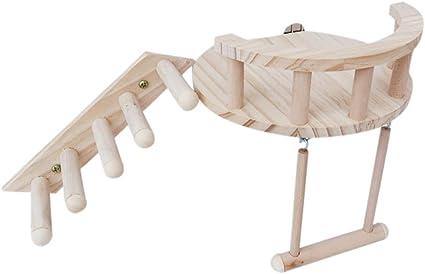 Yanhonin - Juego de 3 juguetes de hámster de madera ...