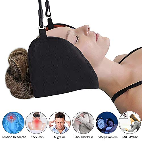 NEOHIPO Neck Relief Hammock Portable Neck Cervical Traction and Relaxation Sling Hammock Relief Head & Neck & Shoulder Pain/Stress in 10 Minutes. Easy to Use at Home & Office & School.