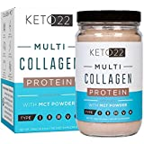 Keto 22 Chocolate Keto Protein Powder – High Quality Multi Collagen Keto Powder with MCT Oil Powder – Keto Collagen Protein Powder – Keto Chocolate Shake – Paleo & Gluten Free – Glass Bottle Review