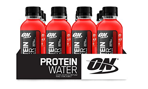 OPTIMUM NUTRITION Protein Water RTD Bottles, Fruit Punch, 16 Ounce (Pack of 12)