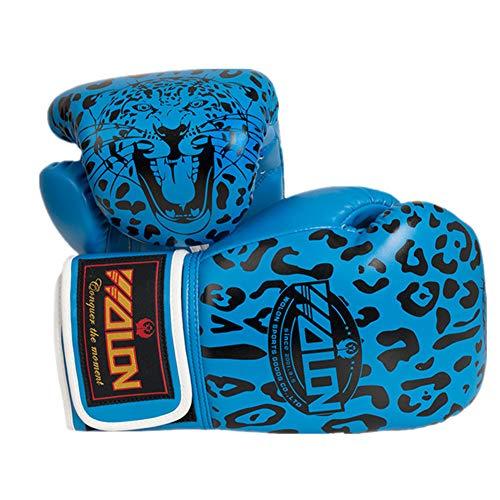 TTXST Boxing Gloves 10Oz Muay Thai Fight Boxing Leopard Gloves Adult Professional Training Sanda Sandbags Gloves,Blue