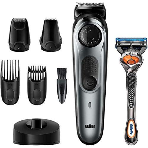 Braun BT7240 – Recortadora Barba y Cortapelos para Hombre, Cuchillas Metálicas Afiladas de Larga Duración, 39 Ajustes de…
