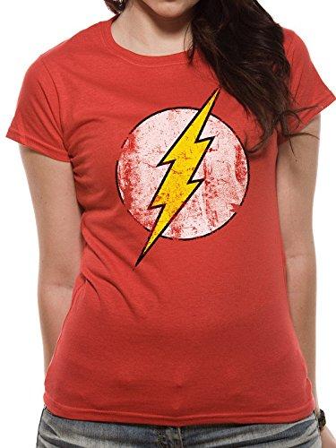 I-D-C the Flash-Logo, Camisetas para Mujer Rosso